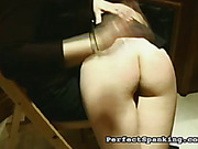 Harsh OTK spanking from merciless mistress for schoolgirls