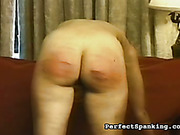 Nude chubby slut got ass red after caning