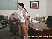 Cunt and ass of secretary spanked by mistress