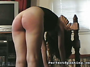 OTK spanking and domestic caning for young housewife