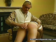 Teen babe suffered from domestic OTK spanking