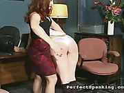 Firm hand of strict mistress spanked disobedient girls