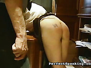Strict boss caned two lazy secretaries
