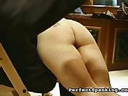 Naughty secretary got OTK spanking from angry boss