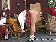 Disobedient bigass schoolgirl got punishment from