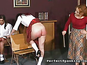 Disobedient bigass schoolgirl got punishment from