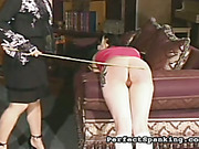 Experienced domme caned two girls in the dungeon