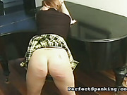 Music tutor spanked lazy bigass girl during lesson