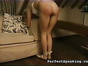 Daddy OTK spanked, caned and paddled young ass