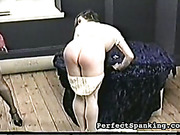 Mistress uses different spanking kinds for young ass