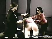Two lesbo mistresses punish bigass bitch