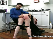 Red burning ass of bitch after OTK punishment