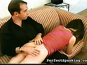 Angry boss spanked ass of young skinny secretary