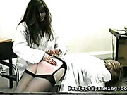 Asses got paddling and OTK spanking from nurse