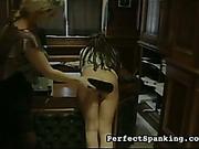 Strict schoolmarm paddled and spanked new schoolgirls