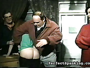 Ass spanking lesson for mature dude