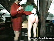 Spanking and caning for two bubble butts