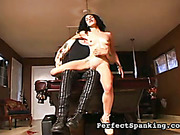 Butt and pierced cunt otk spanked by punisher