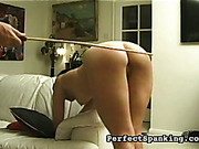 Sweet asses of lesbians were spanked well