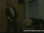 Hubby caned his sexy young wife