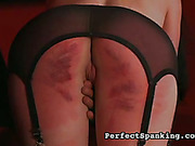 Poor victim babe got ass cheeks strapped red