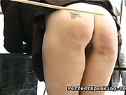 Tattooed ass schoolgirl suffered from caning