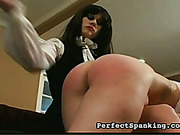 Naughty redhead daughter suffered from OTK spanking