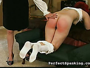 Redhead daughter misbehaved and was whipped by mom