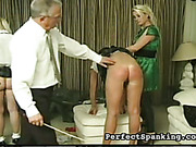 Naughty schoolgirls got asses punished by strict parents