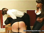 Hardcore ass caning and paddling with three lesbians