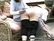 Daughter spanked OTK by strict dad and mom