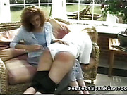 Fat ass of lesbo sub swollen and bruised