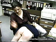 Strict mature mistress caned lazy schoolgirl