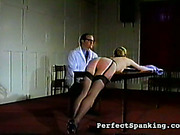 Bitch in lingerie got ass bruised with caning