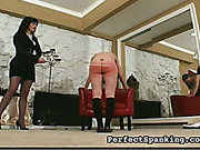 Mom undressed and caned disobedient daughter