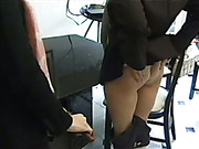 Tattooed ass of mature secretary was caned