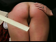 Teen ass was spanked with ruller by teacher
