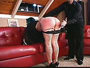 Big ass of emo maid was spanked well