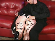 Hot spanking of slutty emo maid