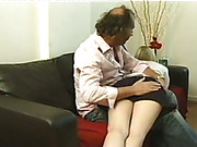 Mature dude spanked bubble butt girl