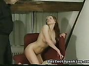 Caning and OTK punishment of slender bitch