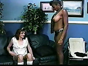 Spanking of black slavegirl by white mistress