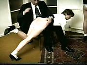 Merciless teacher OTK spanks young schoolgirl