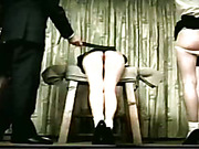 Two asses suffering from paddling and other spanking