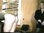 Caned and whipped ass of submissive hottie