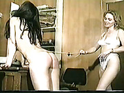 Mature blonde caned poor ass of submissive lesbo