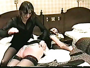 Hard spanking of poor skinny housemaid