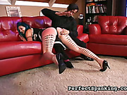 Chubby ass of tattoed bitch was spanked hard