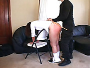 Naughty schoolgirls are punished with spanking