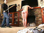Tattoed girl is spanked by her kinky boyfriend
